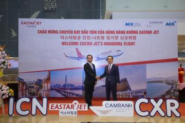 Công ty AGS chào đón đường bay mới ICN – CXR – ICN của Eastar Jet