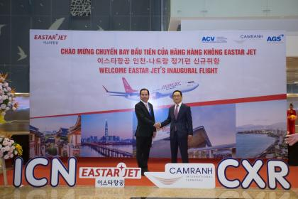 AGS Co., Ltd welcomes Eastar Jet with new route ICN – CXR – ICN