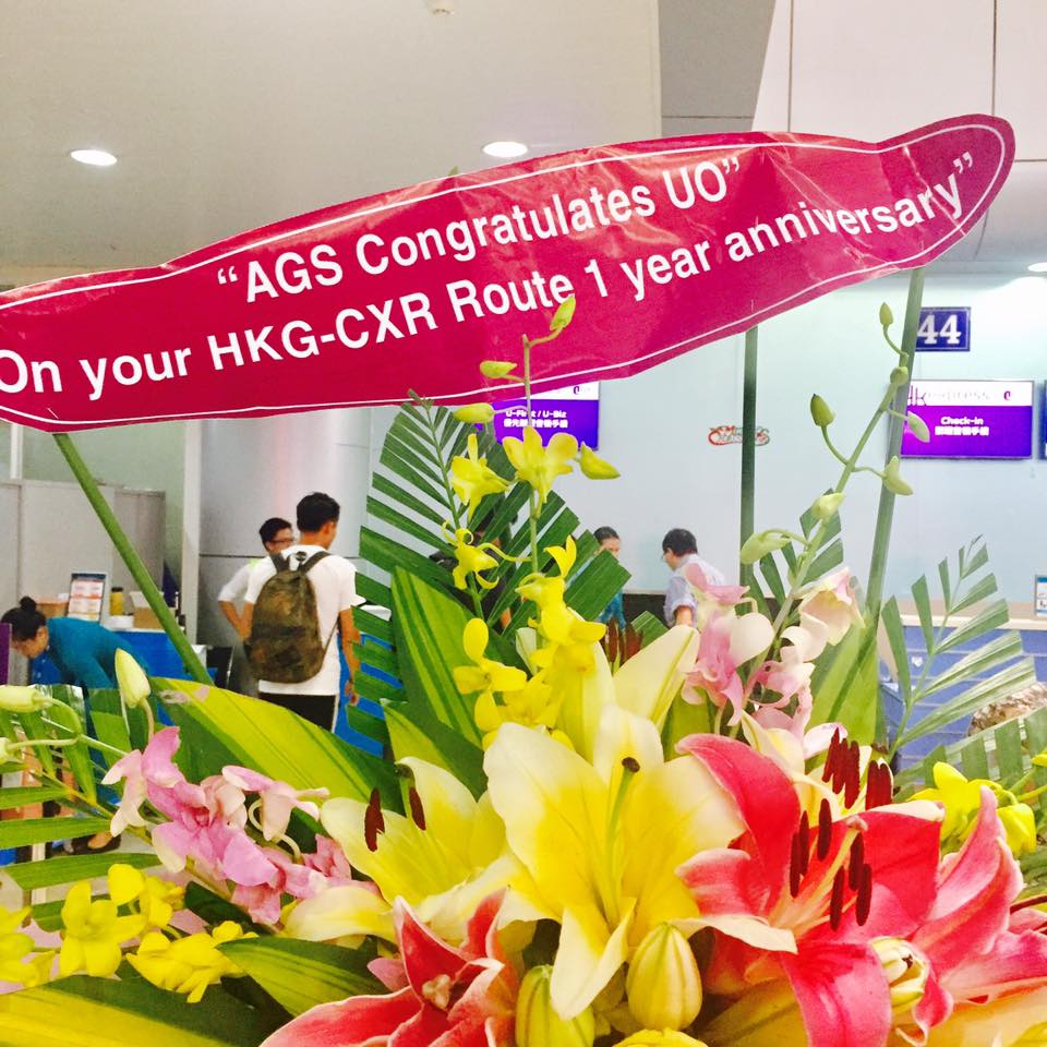 Congratulations on 1st Anniversary of CXR-HKG route by Hongkong Express