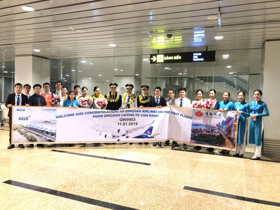 WELCOME QINGDAO AIRLINES TO CAM RANH INTERNATIONAL AIRPORT